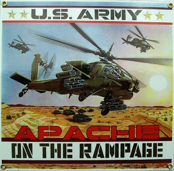 Army Apache Porcelain Metal Sign