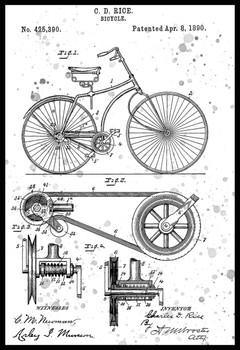 Bicycle US Patent Metal Sign