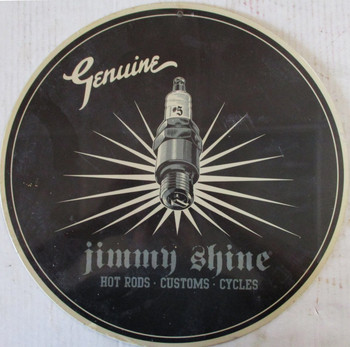"""Jimmy Shine Hot Rods 14"""" Round Metal Sign"""