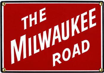 Milwaukee Road Railroad Porcelain Sign