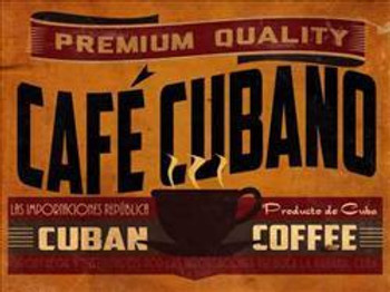 Cafe Cubano Metal Sign