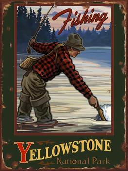 Fishing-Yellowstone Metal Sign