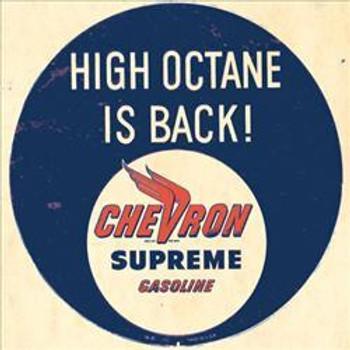 Chevron Supreme Metal Sign