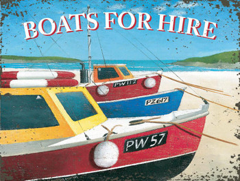 Boats For Hire Metal Sign