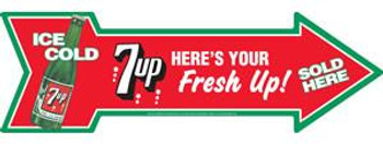 7up - Sold Here (arrow)
