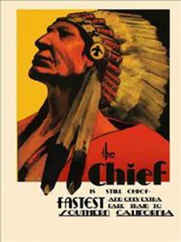 Chief-Southern California Metal Sign