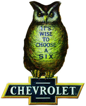 CHEVY OWL EMBOSSED METAL SIGN ( Limited Edition)