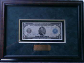 Five Dollar Large Federal Reserve Note