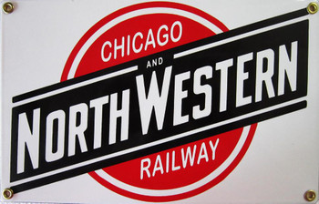 Chicago Railway and North Western Porcelain Sign