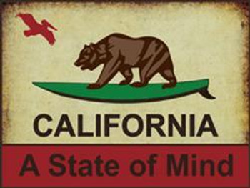 California-A State of Mind Metal Sign