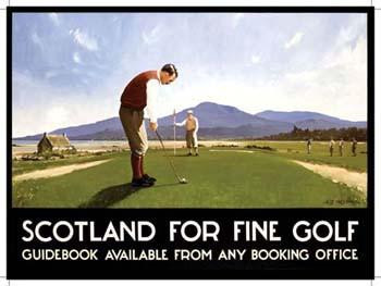Scotland For Fine Golf Metal Sign