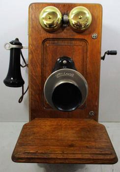 Kellogg Raise Panel Oak Wall Telephone Circa 1890