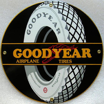 Goodyear Airline Tires Porcelain Sign