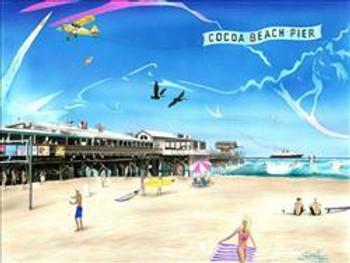 Cocoa Beach Pier Metal Sign