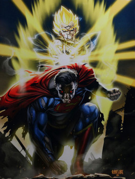 Superman vs. Dragonball Z Majin Vegeta Comic Related Metal Sign