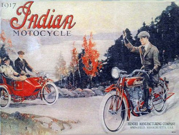 Indian Advertisement 1917 Metal Sign
