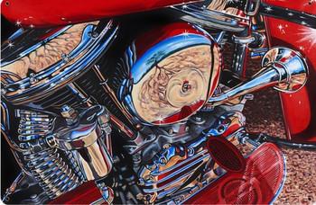 Harley Davidson Panhead Motor Metal Sign