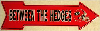Between The Hedges (arrow) Georgia Metal Sign