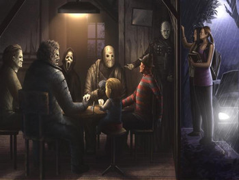 Horror Playing Poker