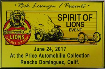 "Rick Lorenze ""Spirit of Lions Event"" Laminated"