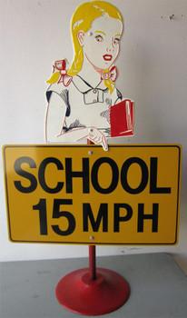 School 15 MPH (Crossing Sign)