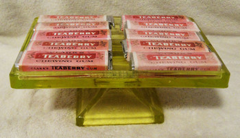 Clark's Teaberry Gum Glass Tray Holder Amber PC