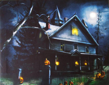 Haunted Mansion LED Canvas