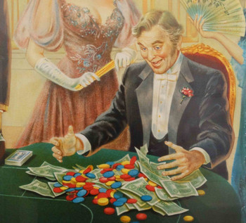 Baccarat Player by Lee Dubin Artist Proof Lithograph