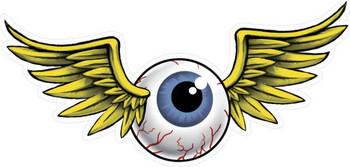 Flying Eyeball Plasma Cut Metal Sign