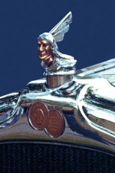 Pontiac Chief Ornament Metal Sign