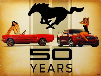 Mustang 50 Years Metal Sign