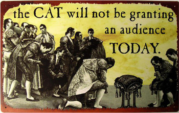 Cat Not Granting Audience Metal Sign