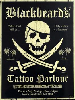 Blackbeard's Tattoo Parlour Metal Sign