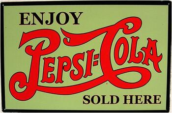 Pepsi:Cola Sold Here