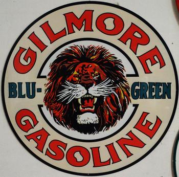 "Gilmore Blue-Green Metal Sign 42"""