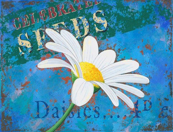 Daisies Metal Sign