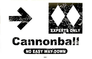 Cannonball Double Diamond Metal Sign