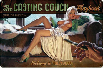 Casting Couch Pin-Up Metal Sign