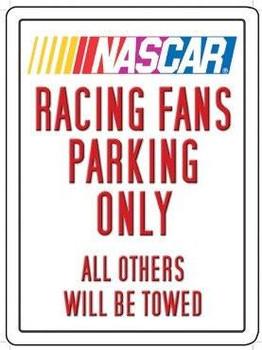Nascar Racing Fans Metal Sign