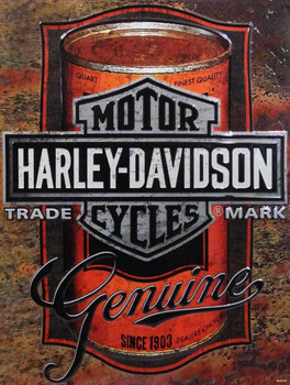 Harley-Davidson Motorcycles Can Metal Sign