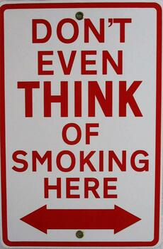 Don't Even Think-Smoking Porcelain Sign