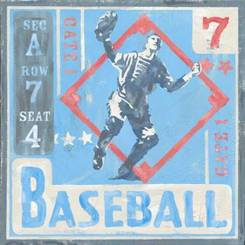 Baseball Metal Sign