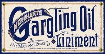 Gargling Oil Liniment Porcelain Sign