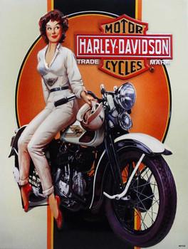 Dreaming Babe Harley Davidson Metal Sign