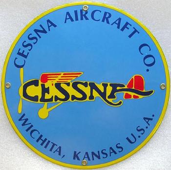 Cessna Aircraft Porcelain Sign