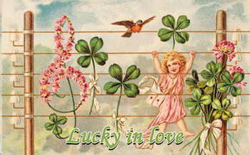 Lucky in Love Metal Sign
