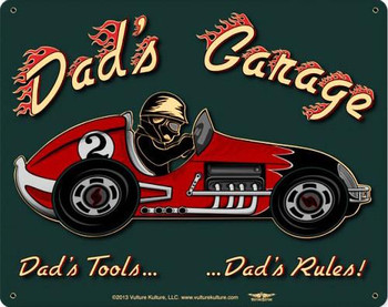 Dad's Garage Vintage Metal Sign