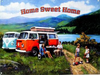 Home Sweet Home VW Campervan Metal Sign