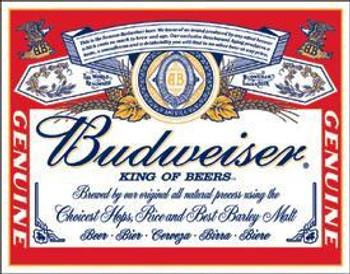 Budweiser Label
