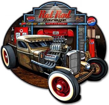Rat Rod Garage Plasma Cut Metal Sign